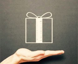 gift and hand