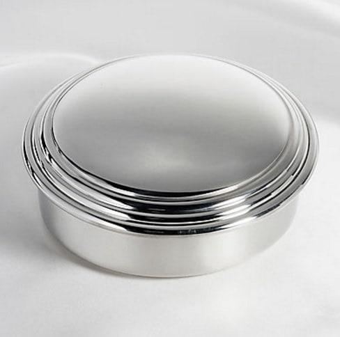 Large Pewter Round Box - Engraved Gift