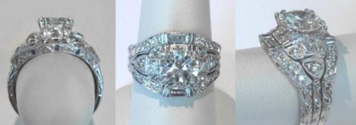 Vintage, Hand-Engraved Wedding Ring